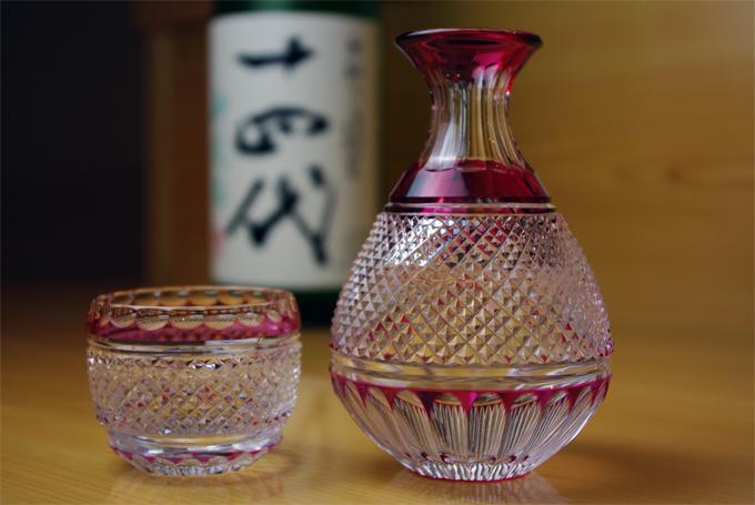 日本酒と江戸切子