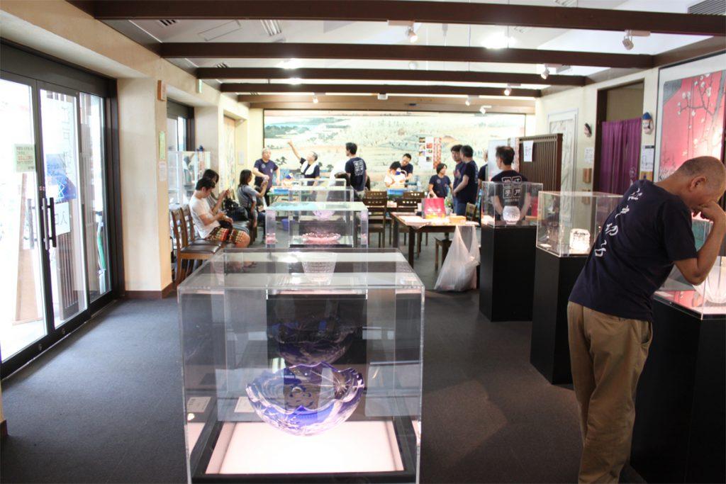 江戸切子の日体験イベント会場